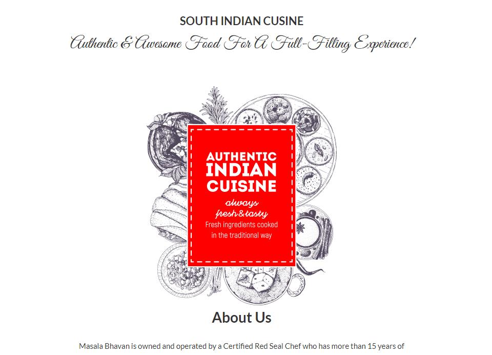 Masala Bhavan Website